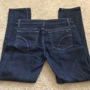 Joe's Jeans Blue Dark Wash Cigarette Fit Size 27